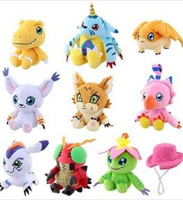 Bandai Digimon Adventure Tri Partner Digimon Plush Doll Set (3)