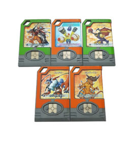 Digimon Data Plate DDP Set of 5 Blink Foils