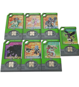 Digimon Data Plate DDP Set of 7 Green